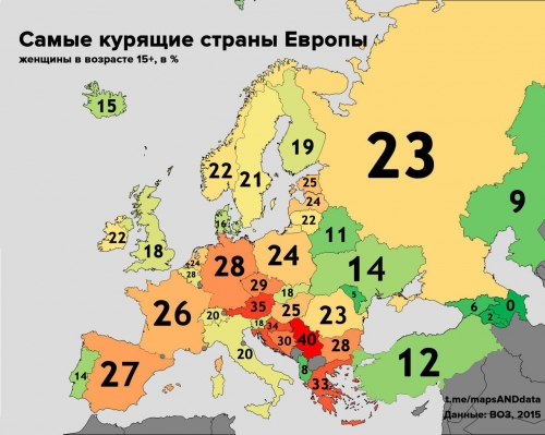Курим больше всех в Европе
